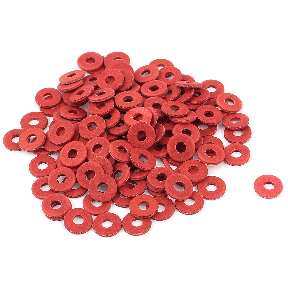 100Pcs 3 x 8 x 1.2mm Fiber Motherboard Insulating Washers Red