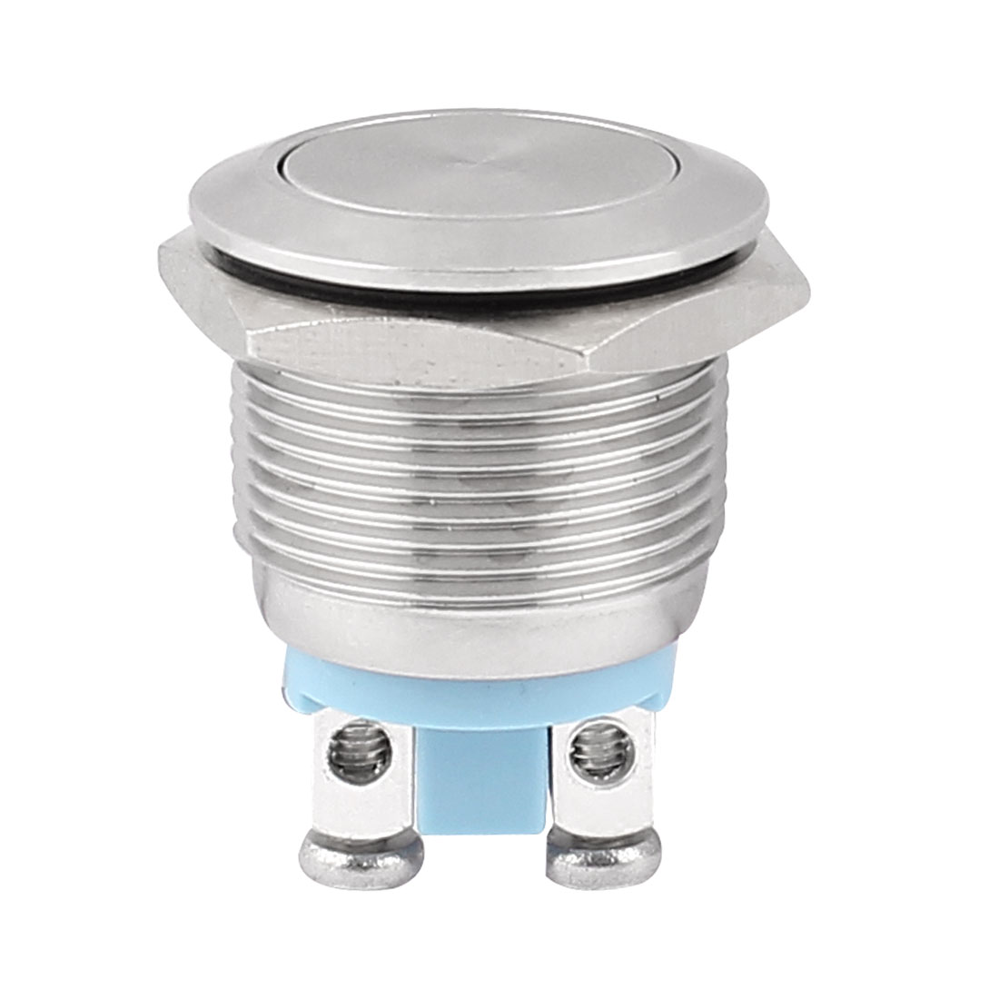 19mm Mounted Thread SPST Flat Head Momentary Push Button Switch
