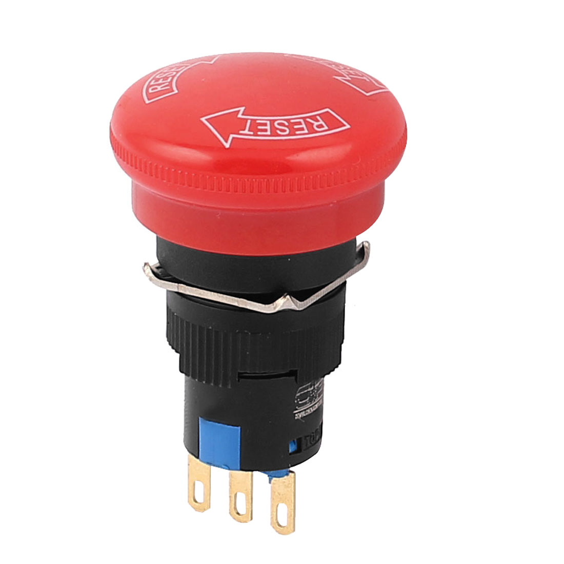 16mm 3 Terminals SPDT NO/NC Red Mushroom Head Emergency Stop Push Button Switch