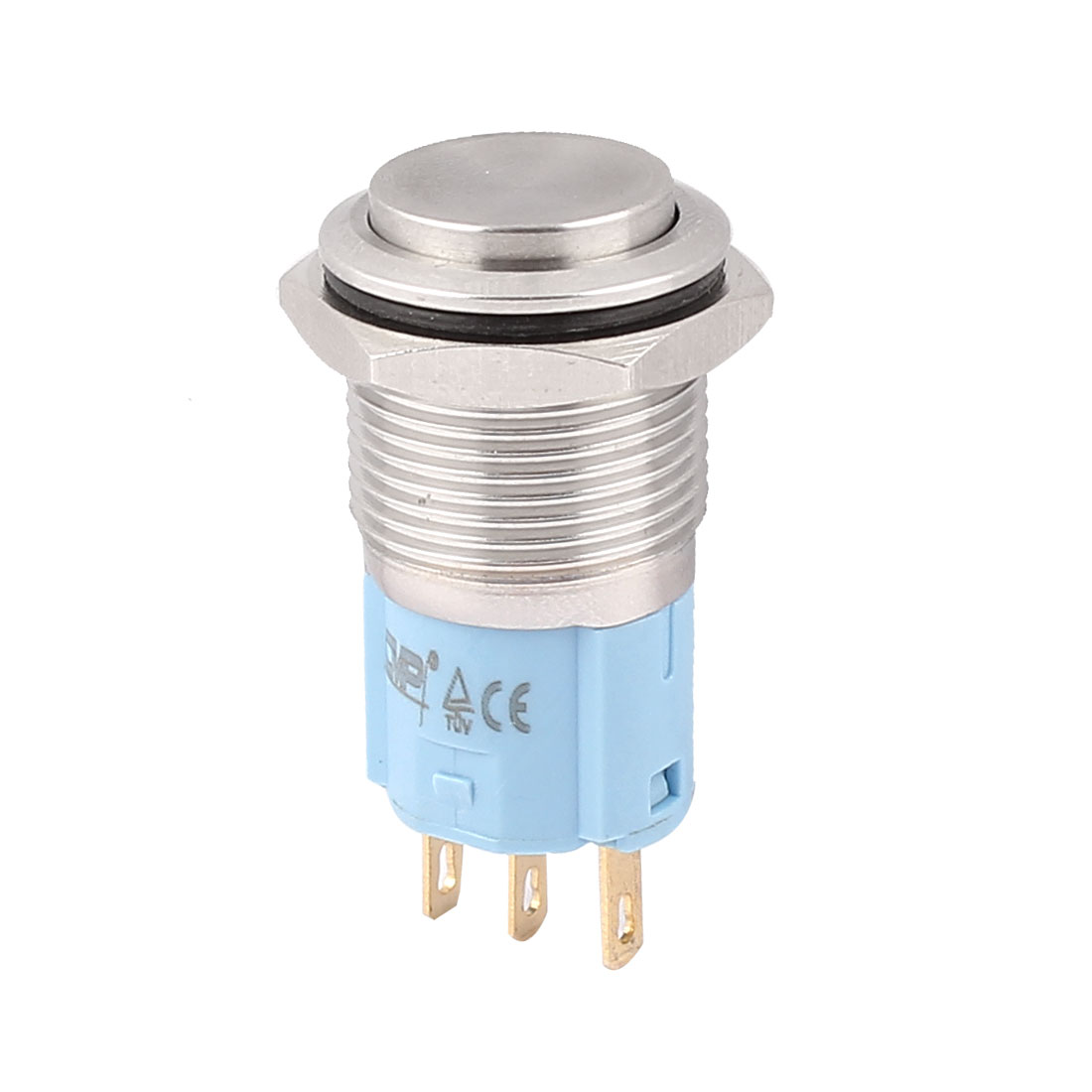16mm Mounted Thread 3 Pins SPDT High Head Momentary Push Button Switch