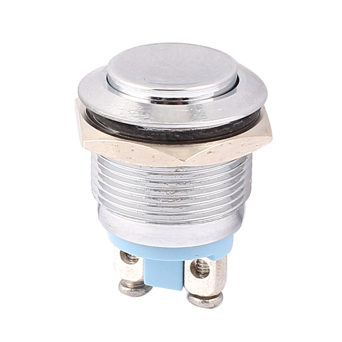 19mm Mounted Thread SPST High Head Momentary Push Button Switch
