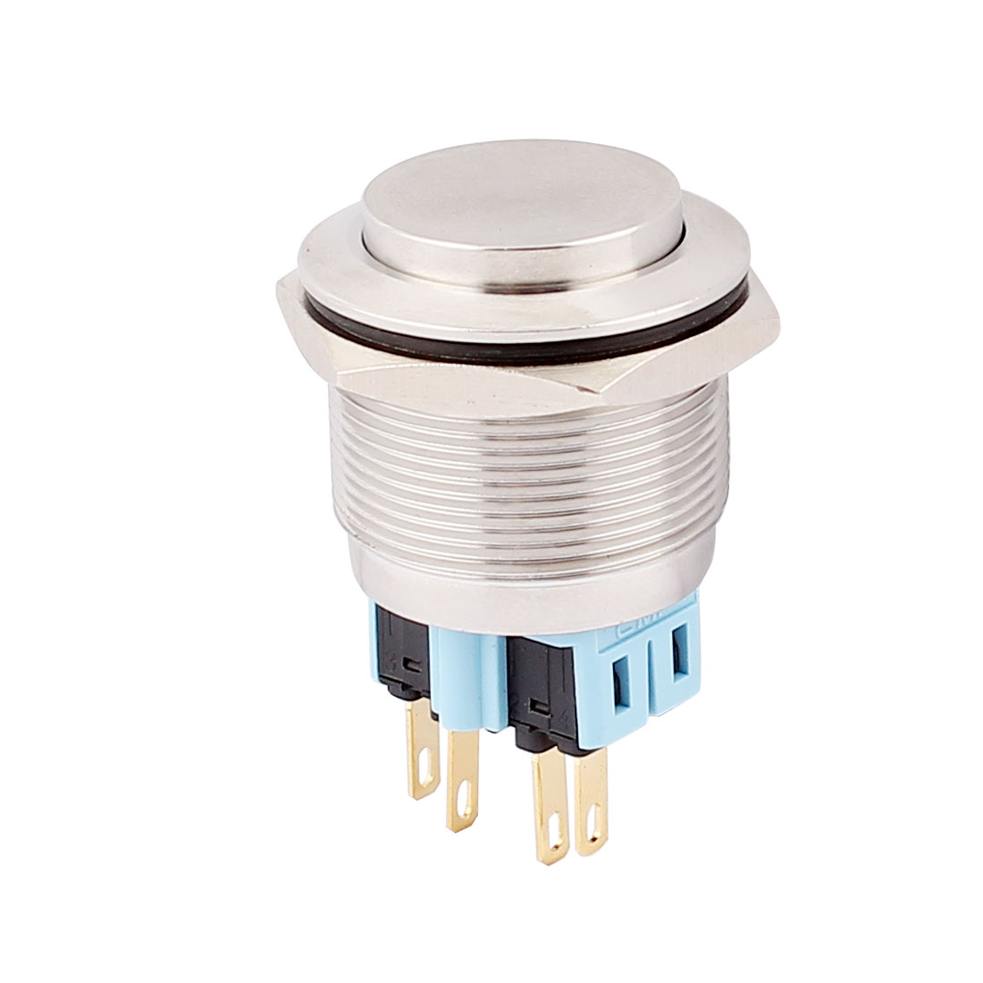25mm Mounted Thread 4 Pins DPST High Head Momentary Push Button Switch