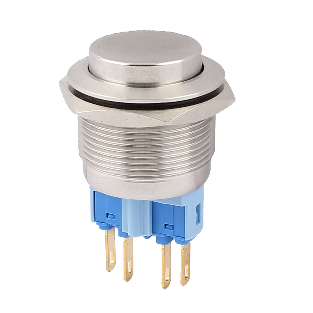 22mm Mounted Thread 4 Pins DPST High Head Momentary Push Button Switch