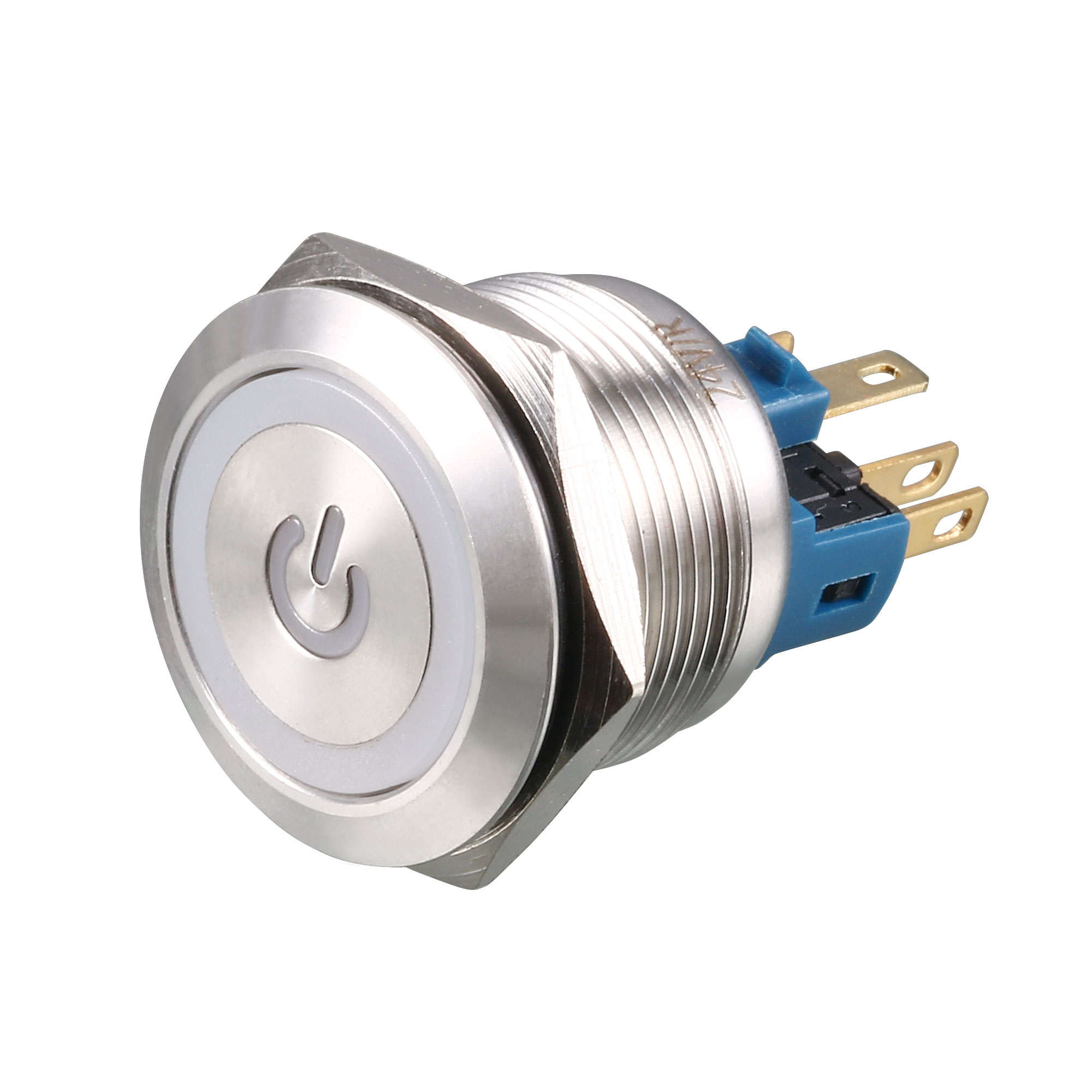 DC 24V 18mm Red LED Light 22mm Mounted Thread 6 Pins DPST ON/OFF Momentary Push Button Switch