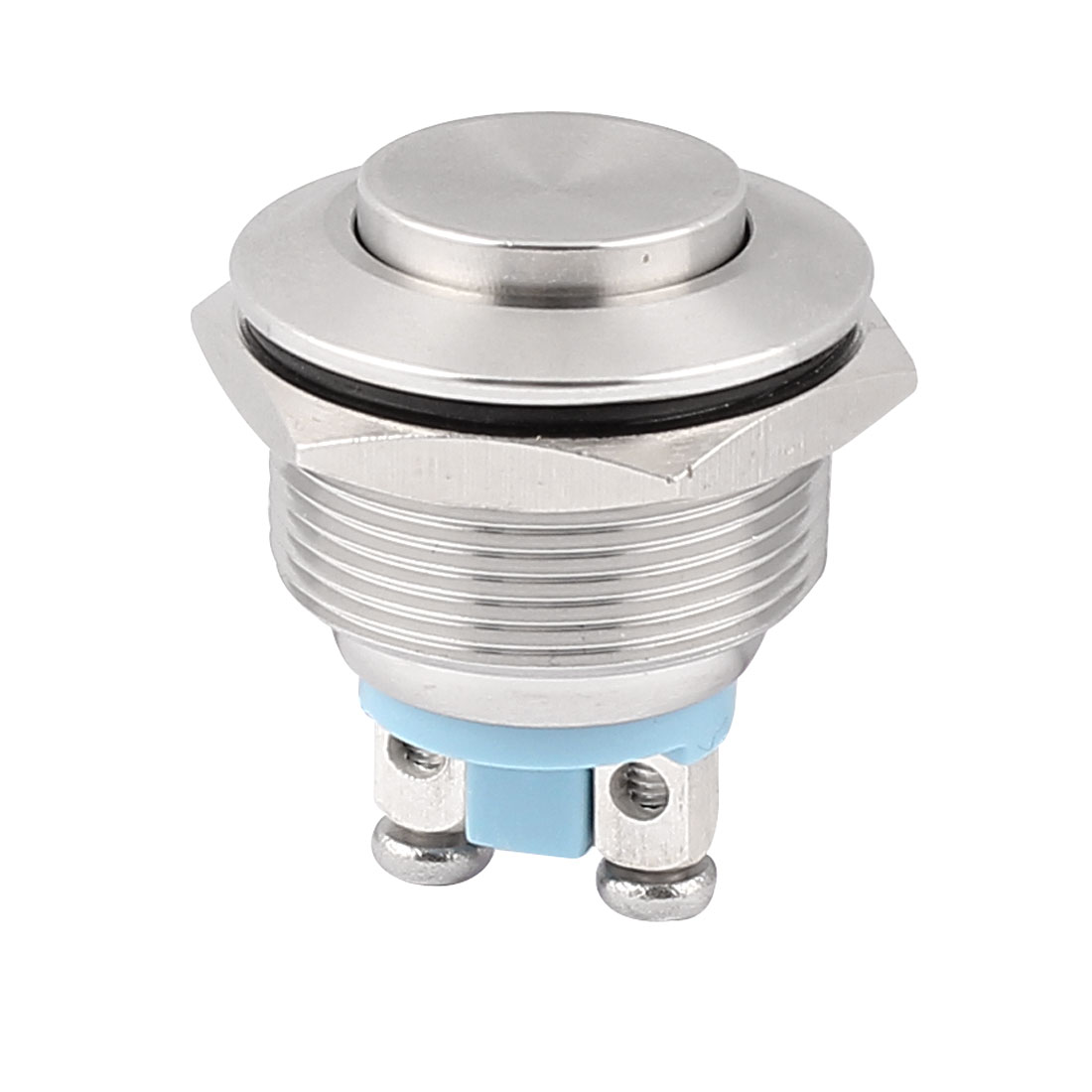 22mm Thread Dia SPST High Head Momentary Push Button Switch