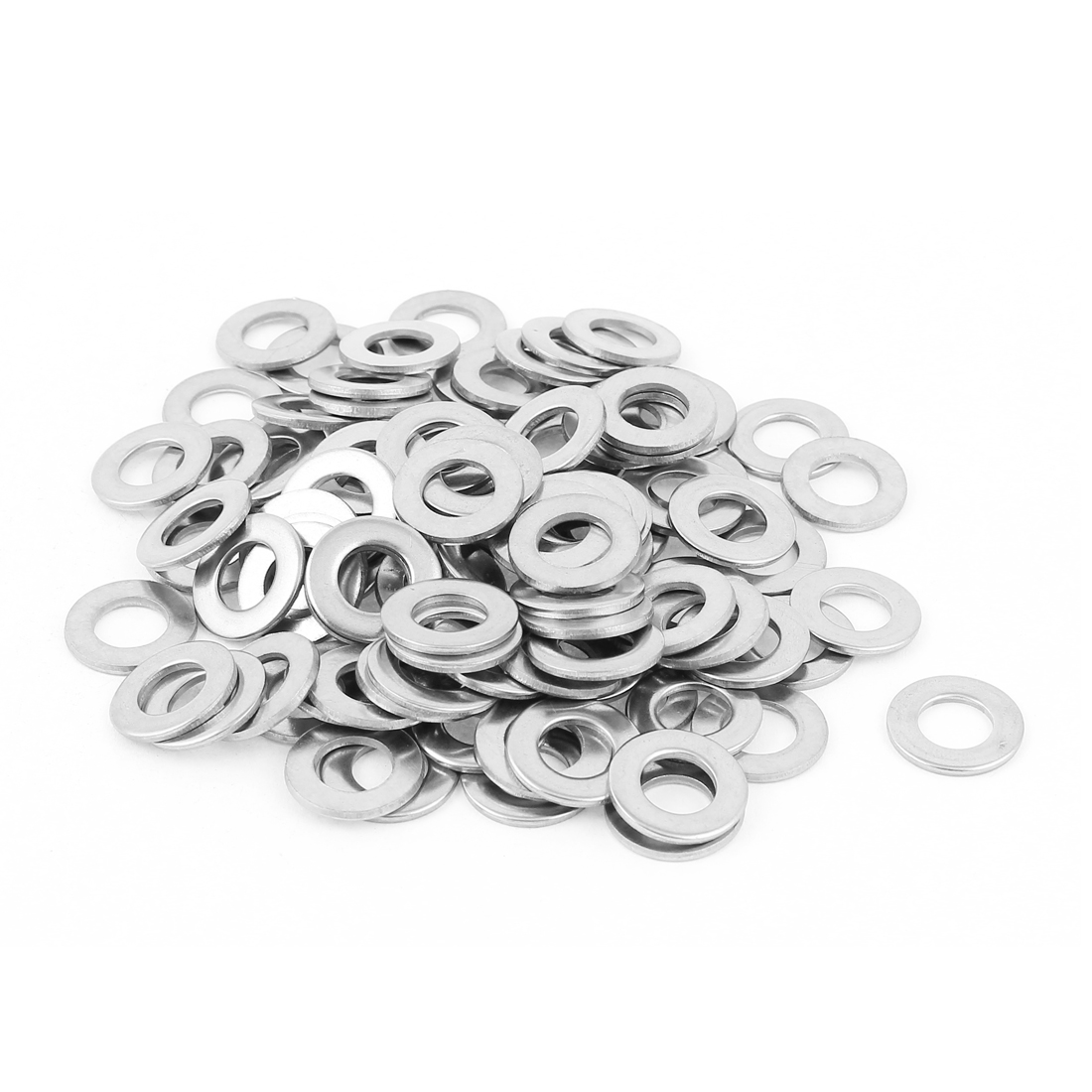50Pcs M8 x 16mm x 1.5mm 304 Stainless Steel Flat Washer for Screw Bolt