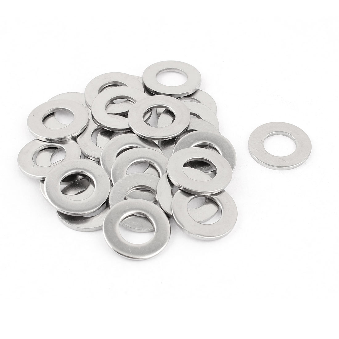 25Pcs M12 x 24mm x 2mm 304 Stainless Steel Flat Washer for Screw Bolt