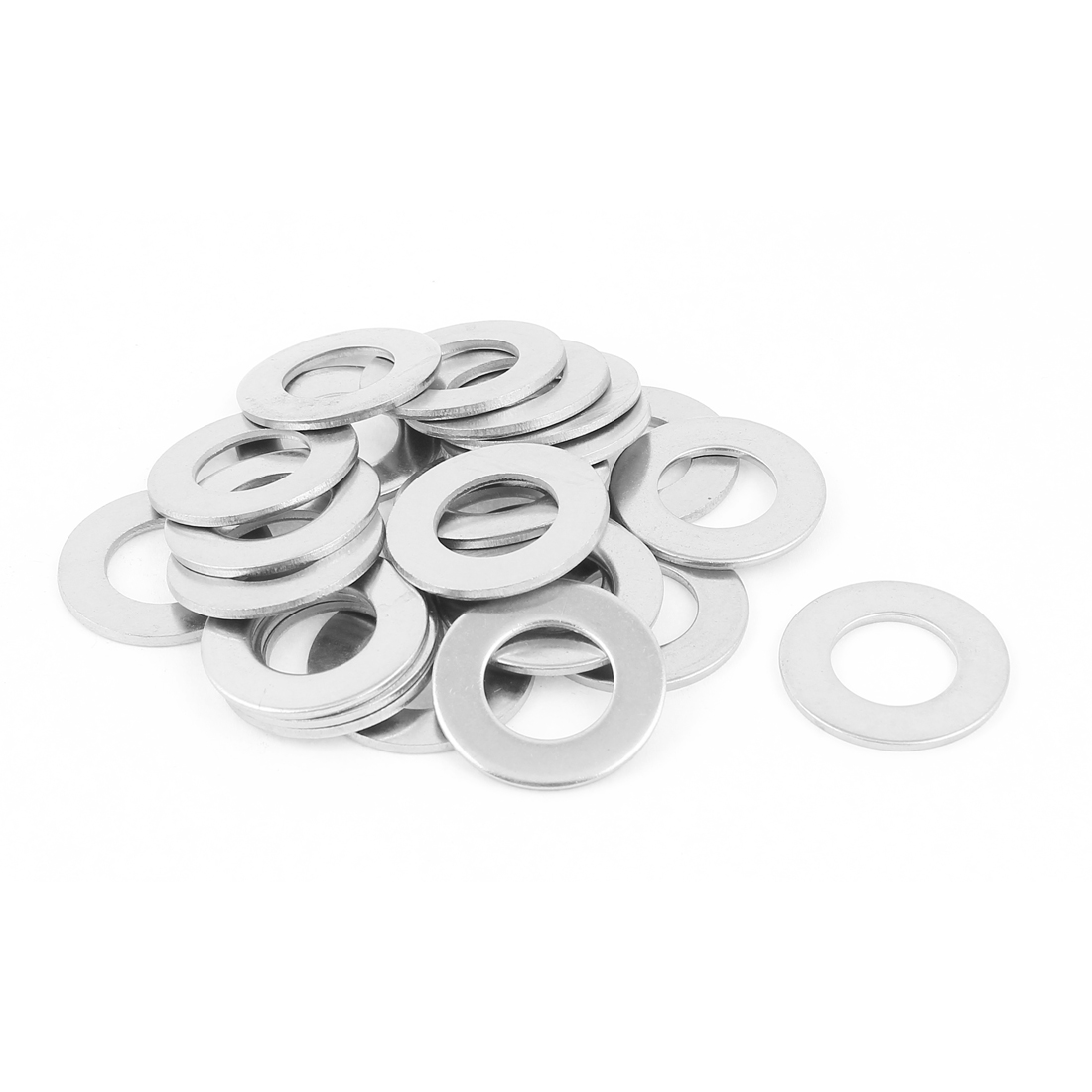 25Pcs M16 x 30mm x 2mm 304 Stainless Steel Flat Washer for Screw Bolt