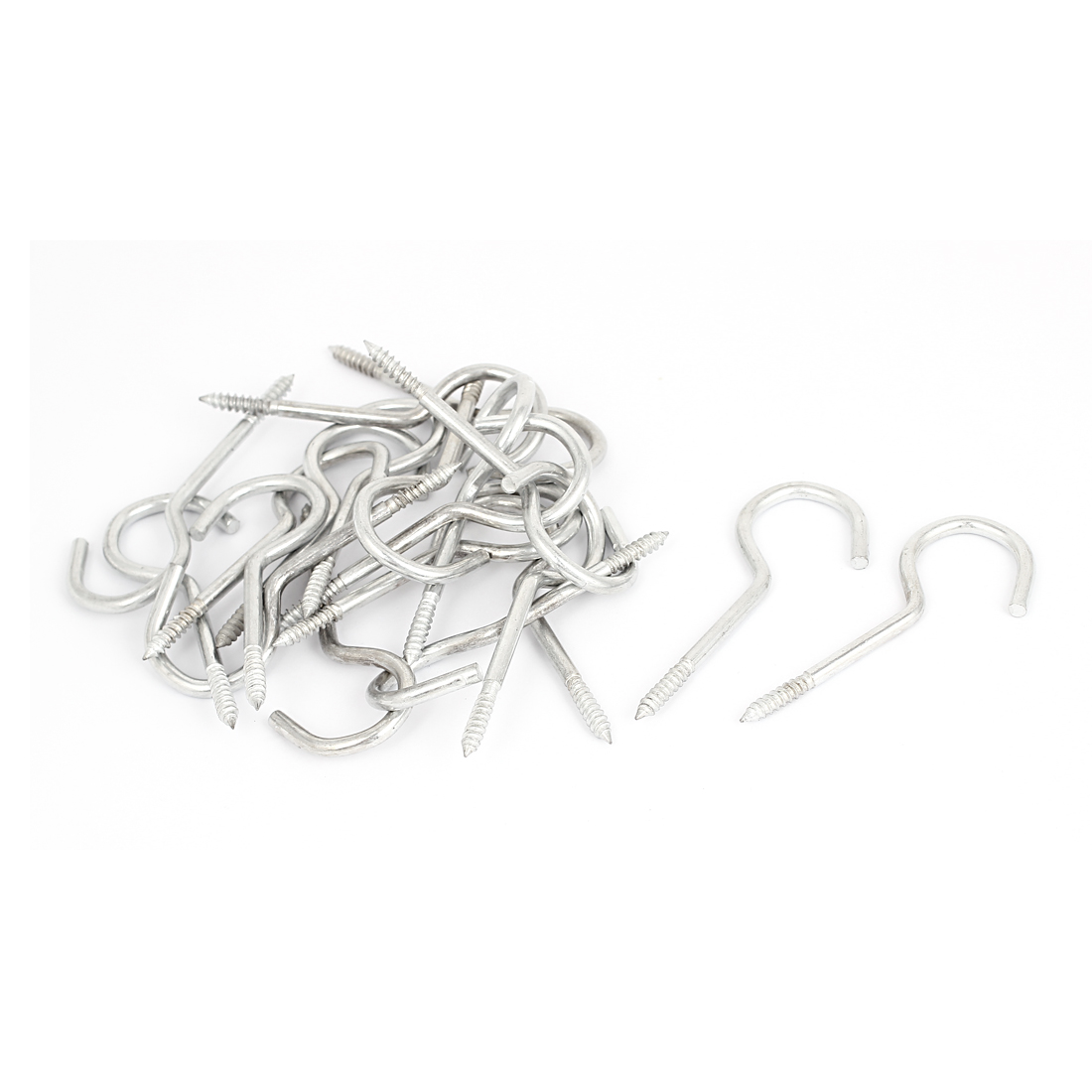 Garden Vine Wire 5mm Dia Thread Zinc Coating Screw Eye Hook Eyelet Bolt 20pcs
