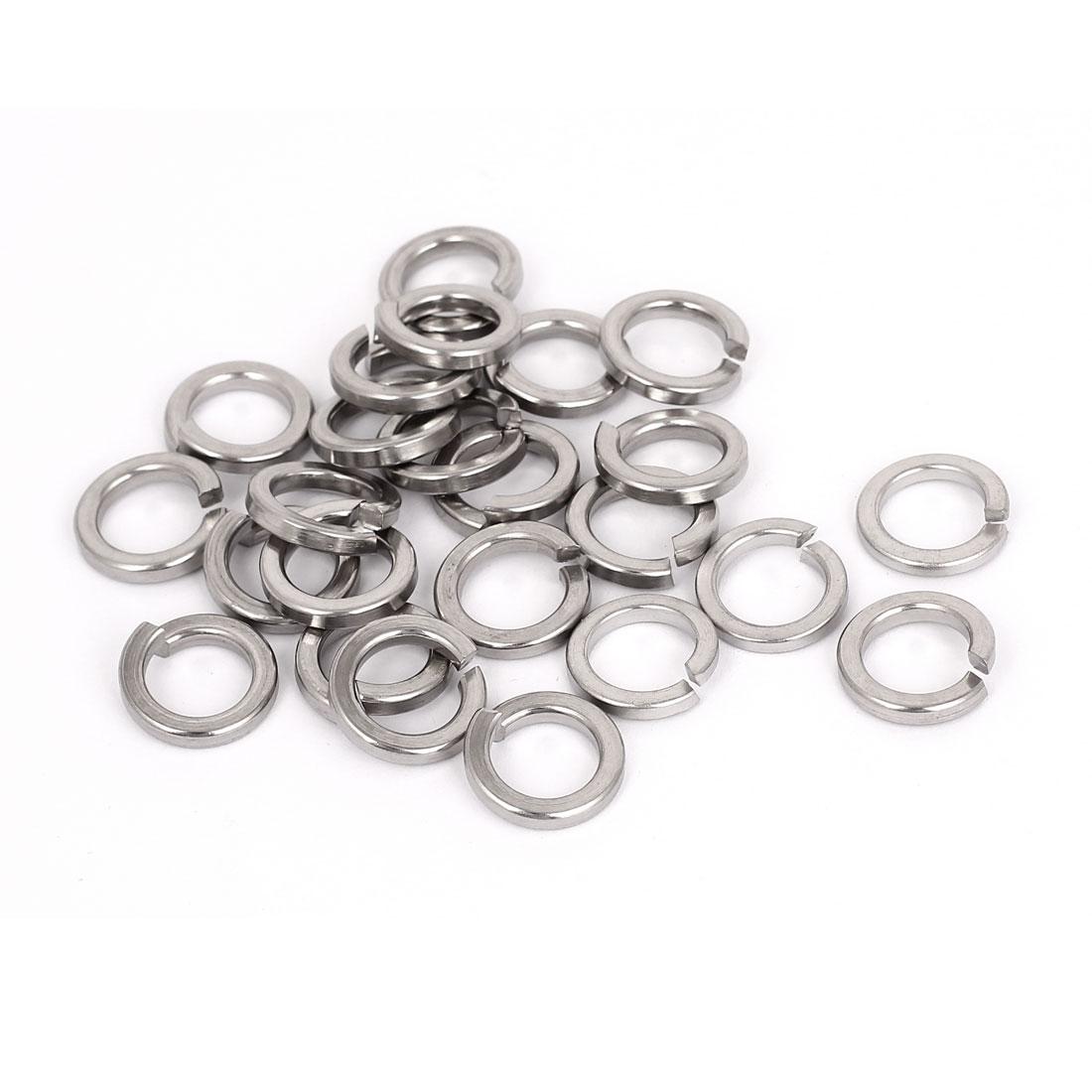25pcs 304 Stainless Steel Split Lock Spring Washers M12 Screw Gasket Pad