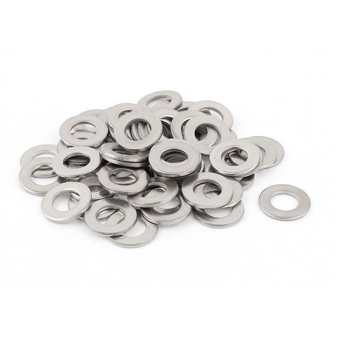 50Pcs M10 x 20mm x 2mm 304 Stainless Steel Flat Washer for Screw Bolt