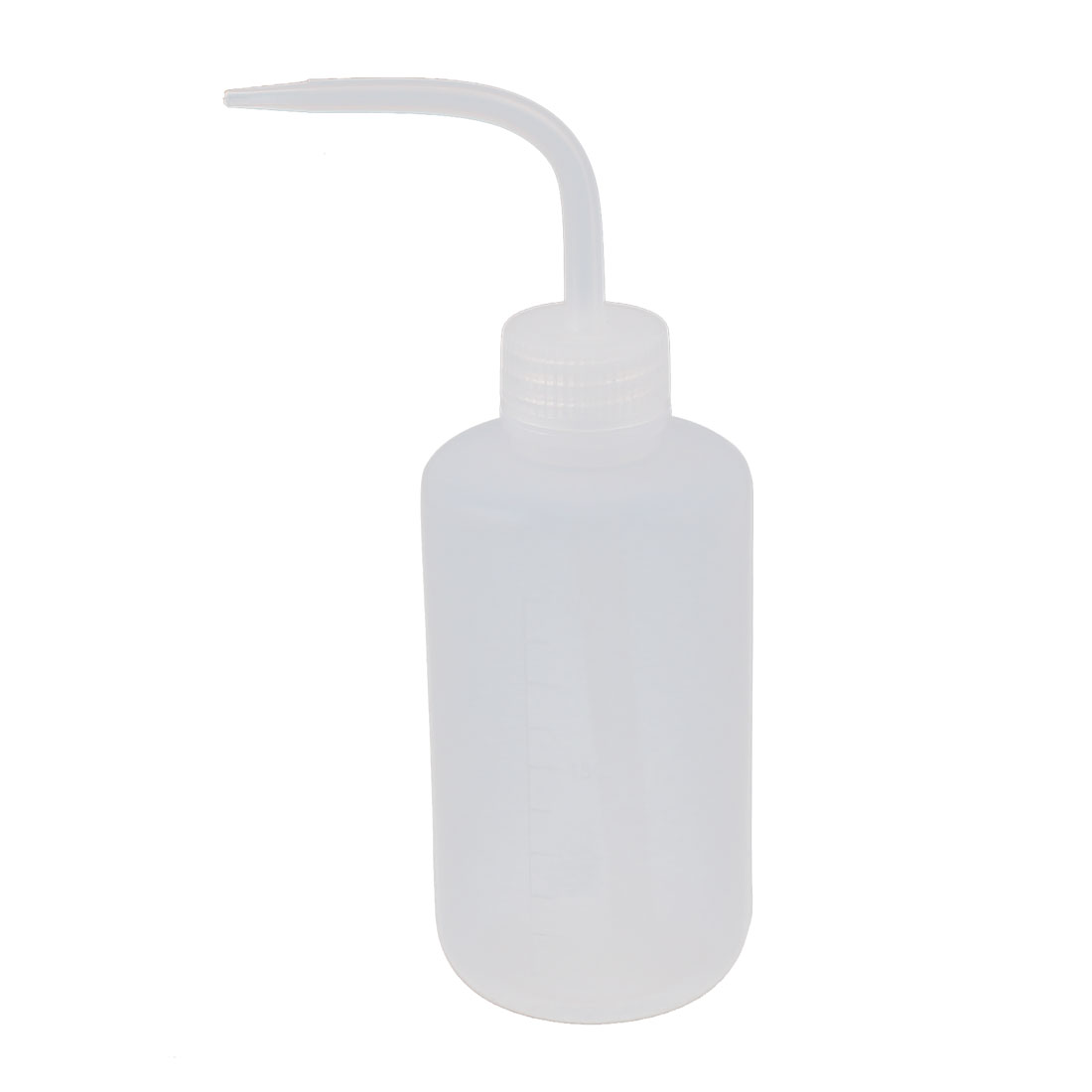 250mL Bent Tip Clear White Plastic Oil Chemical Liquid Container Squeeze Bottle