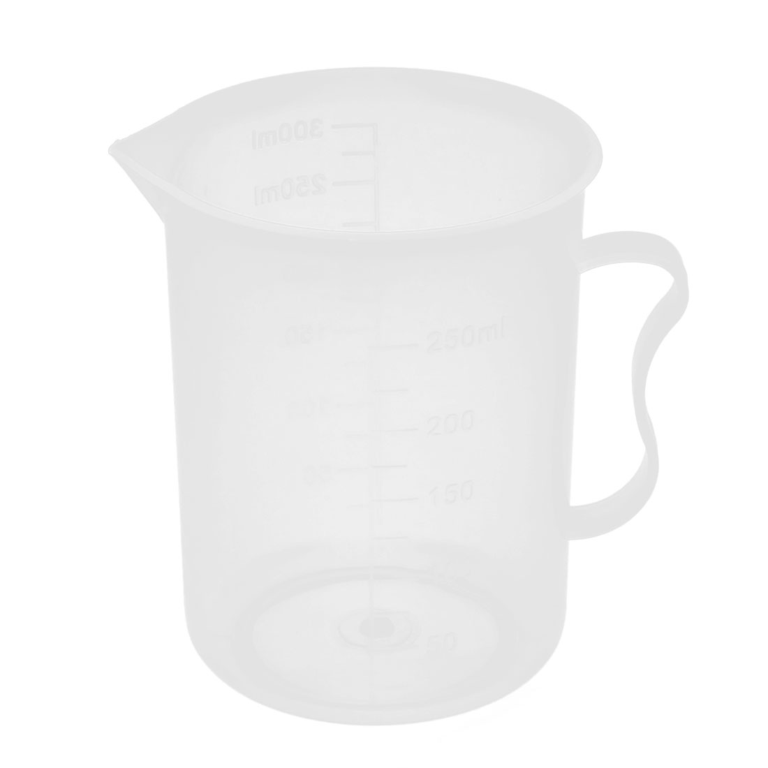 School Laboratory Plastic Water Liquid Container Measuring Testing Beaker 250mL