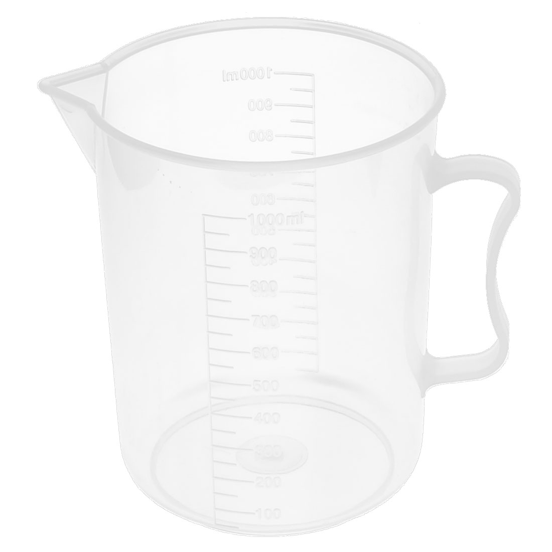 School Laboratory Plastic Water Liquid Container Measuring Testing Beaker 1000ml