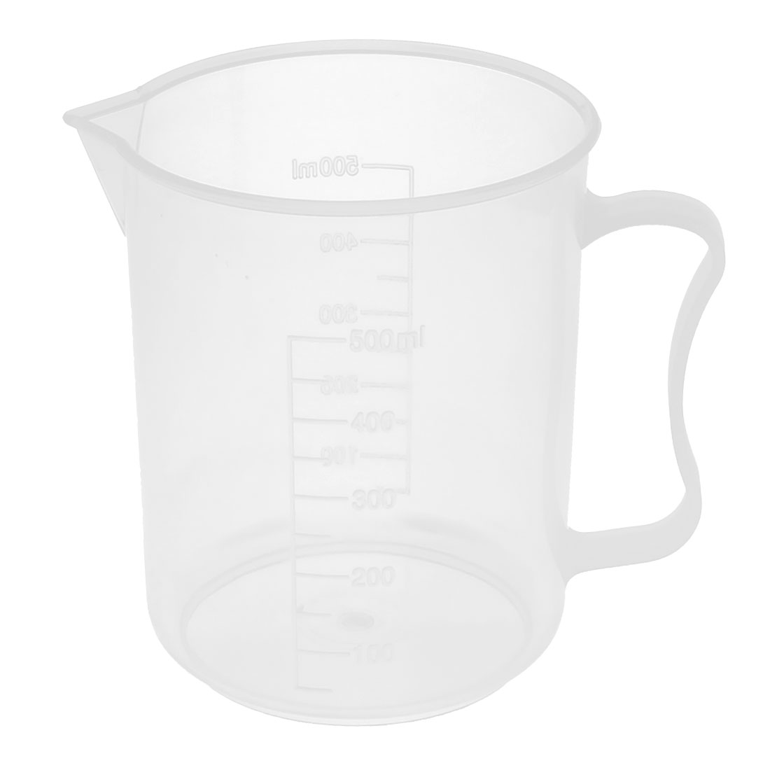 School Laboratory Plastic Water Liquid Container Measuring Testing Beaker 500ml