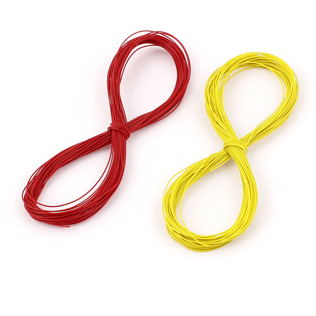P/N B-30-1000 10M Insulation Test Wrapping Wire Cable 2pcs Yellow Red