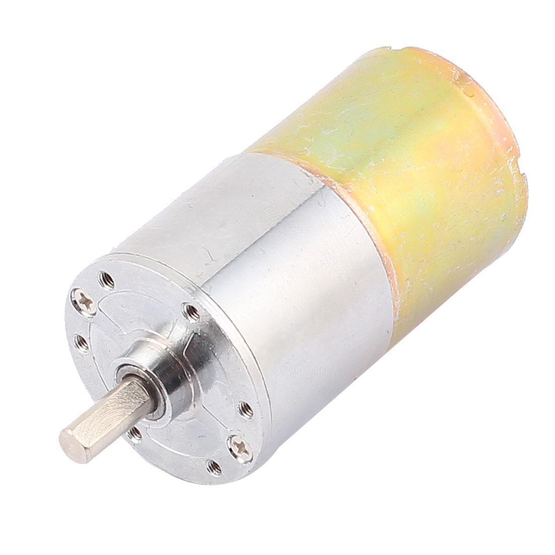 DC 12V 10RPM 6mm Shaft Dia Speed Reducing Gear Box Motor