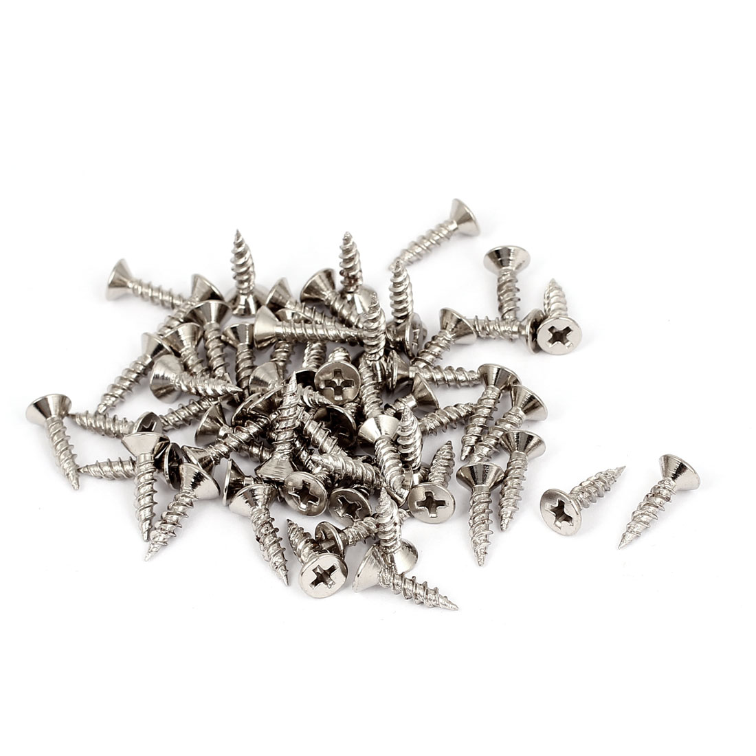 3.5mmx16mm Phillips Flat Head Countersunk Self Tapping Drilling Screws 60pcs