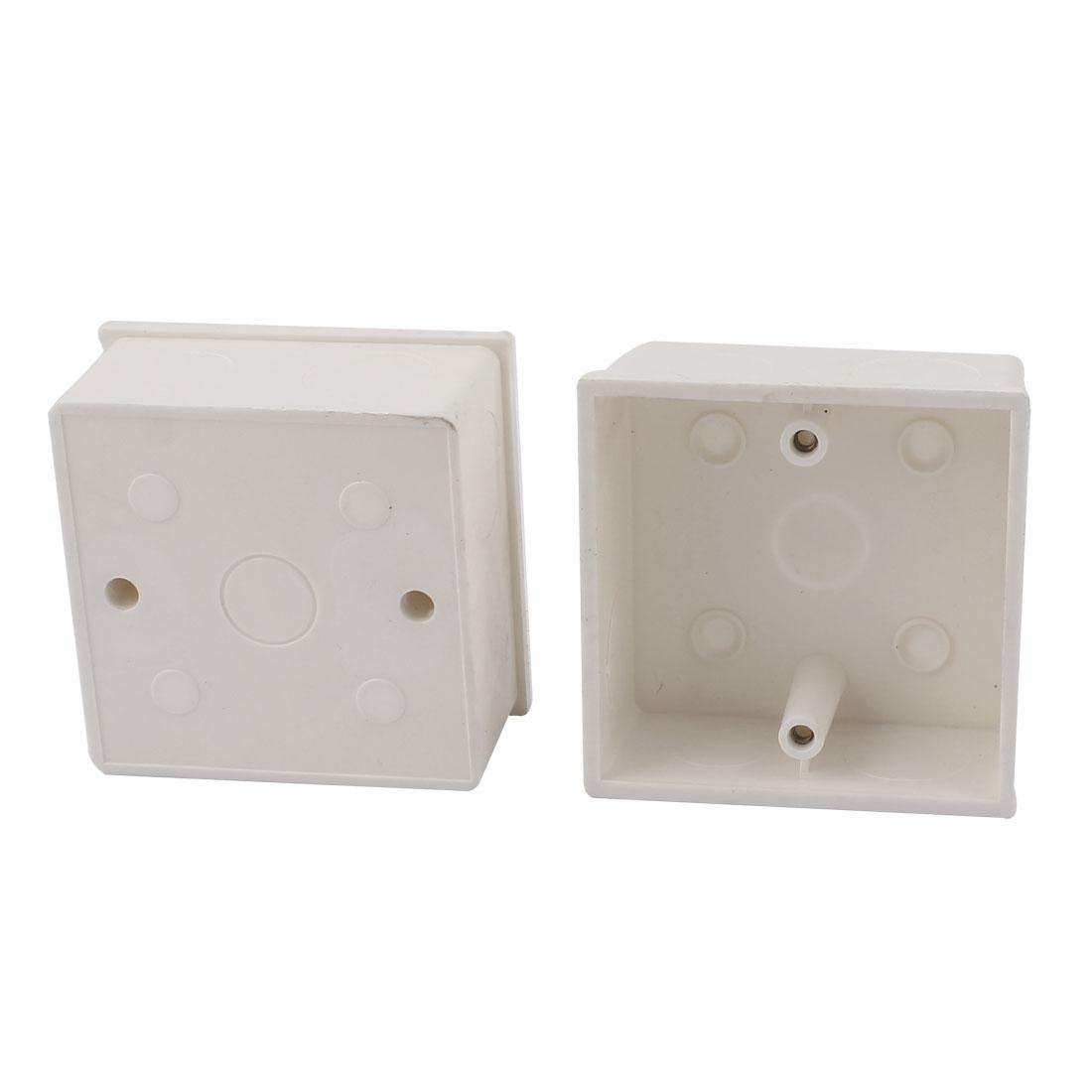 2Pcs 86mm x 86mm x 40mm Plastic Enclosure Project Junction Box Case