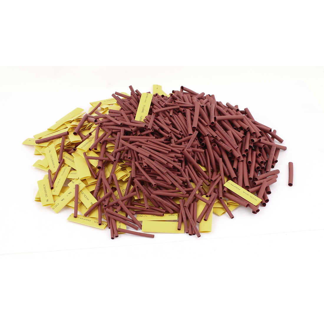 900Pcs 2mm/3.5mm/7mm Yellow Heat Shrink Tube Sleeving Wrap Wire Kit 2:1