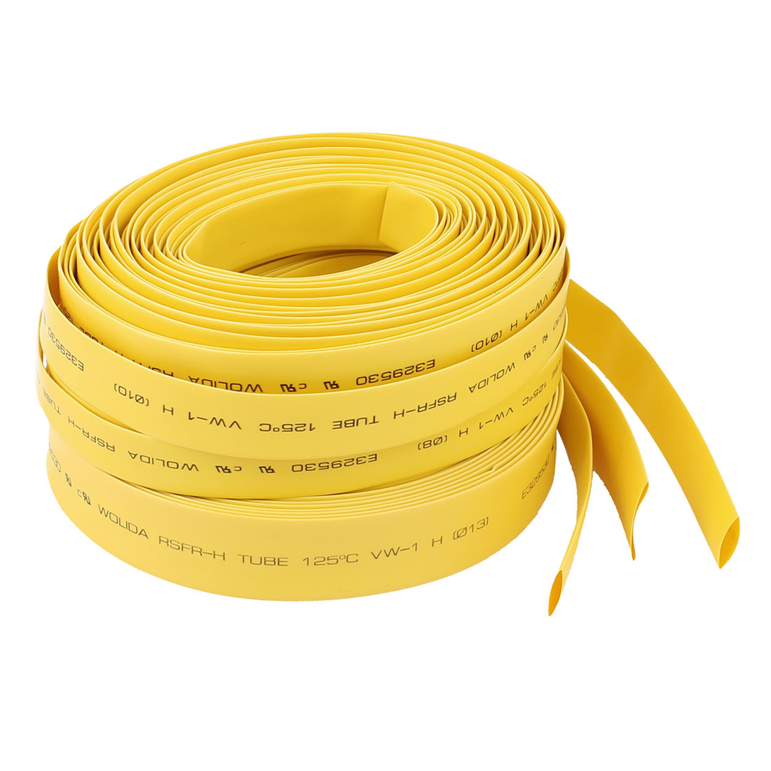 3Pcs 32.8ft 8mm/10mm/13mm 2:1 Heat Shrink Tube Sleeving Wrap Wire Kit 3 Sizes Yellow