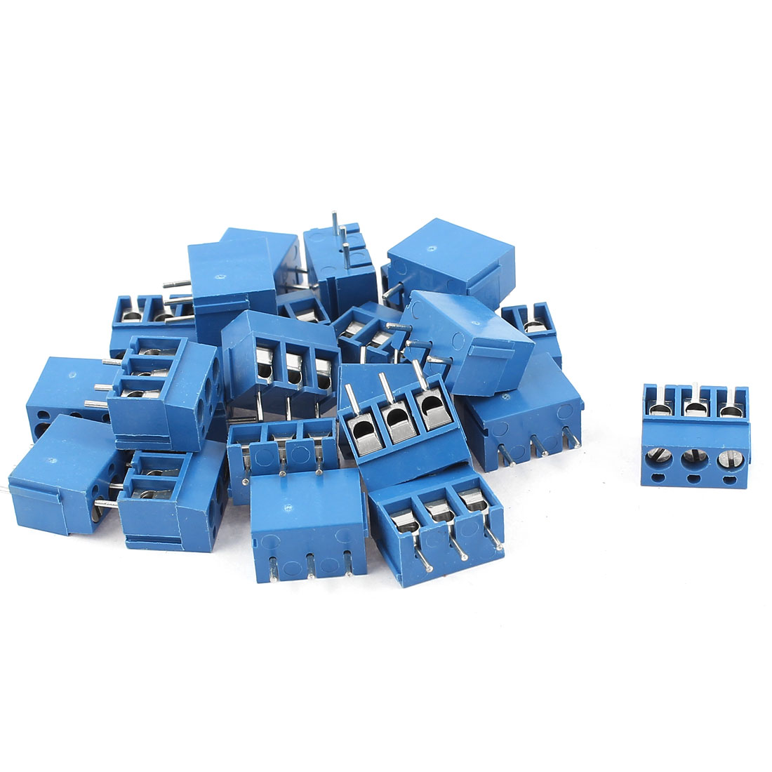 23 Pcs 3Way 3 Terminals PCB Screw Terminal Block Connector for 14-22AWG Wire