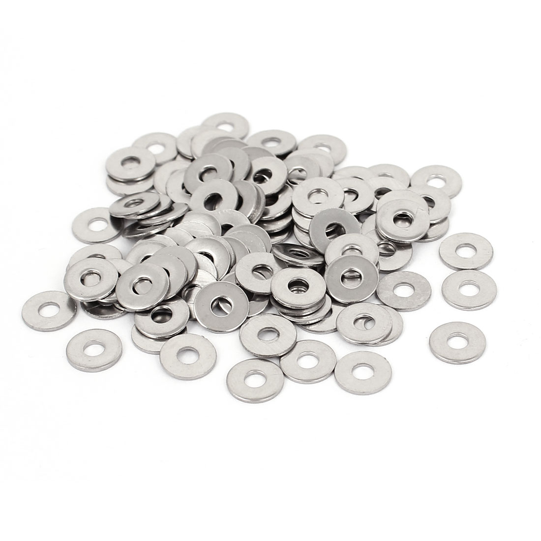 100Pcs M3x9mmx0.8mm Stainless Steel Metric Round Flat Washer for Bolt Screw