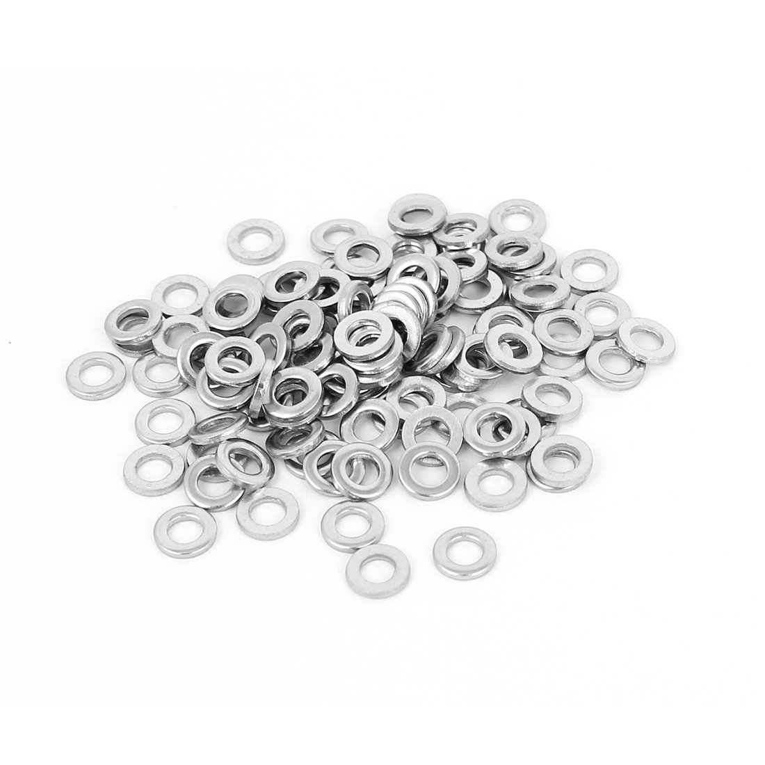 100Pcs M3x6mmx1mm Stainless Steel Metric Round Flat Washer for Bolt Screw