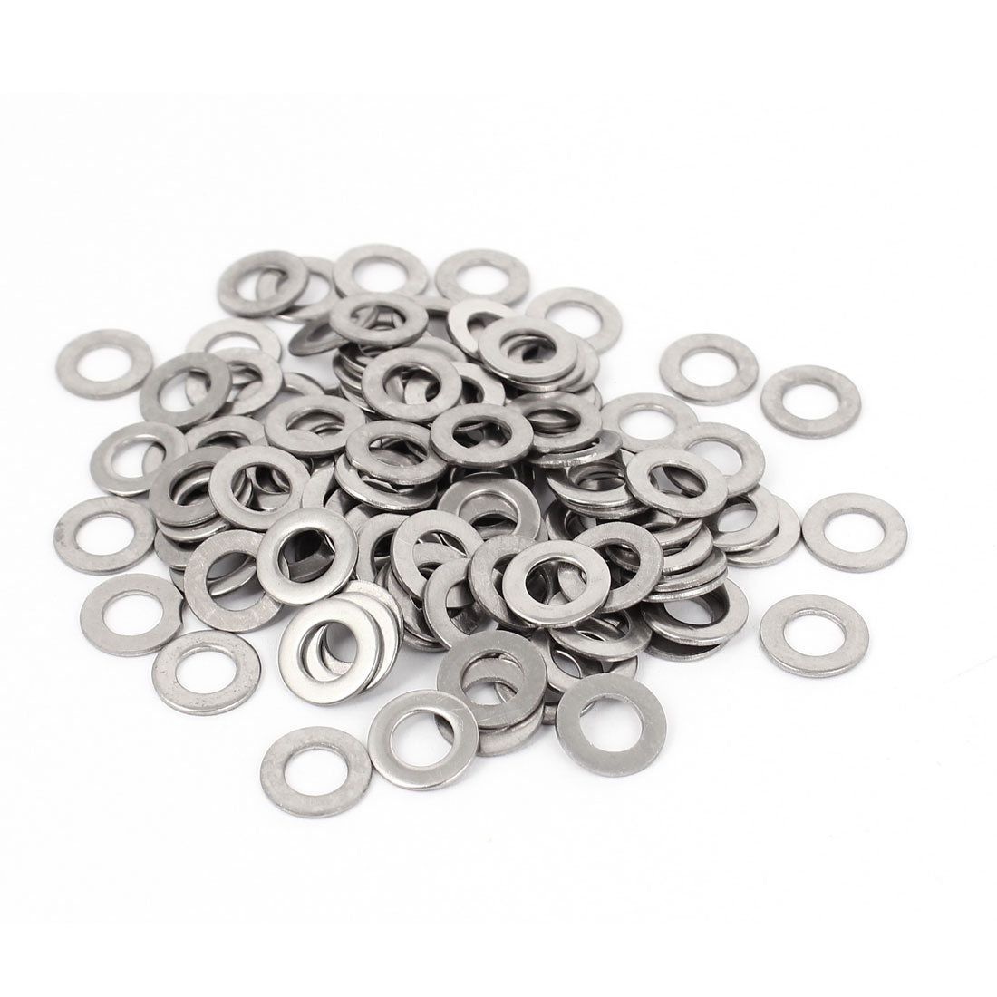100Pcs M6x12mmx1mm Stainless Steel Metric Round Flat Washer for Bolt Screw