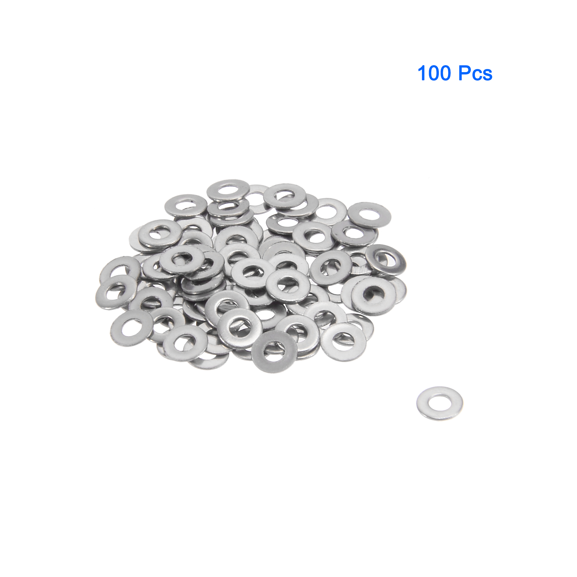 100Pcs M1.6x4mmx0.3mm Stainless Steel Metric Round Flat Washer for Bolt Screw