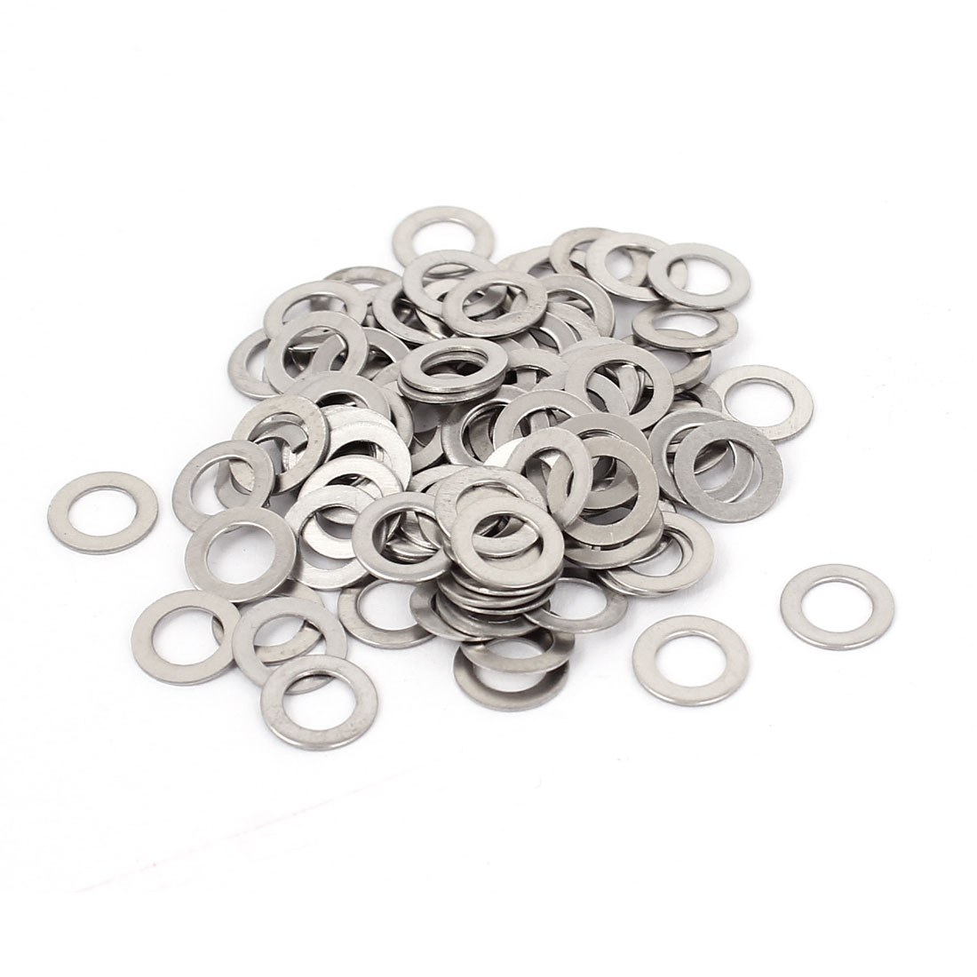 100Pcs M5x9mmx0.5mm Stainless Steel Metric Round Flat Washer for Bolt Screw