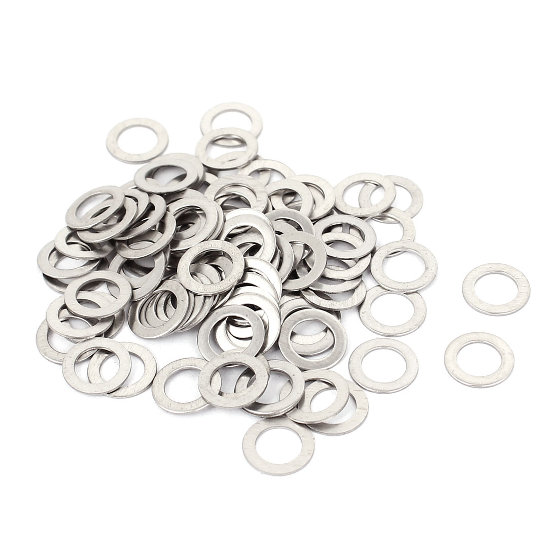 100Pcs M6x10mmx0.5mm Stainless Steel Metric Round Flat Washer for Bolt Screw