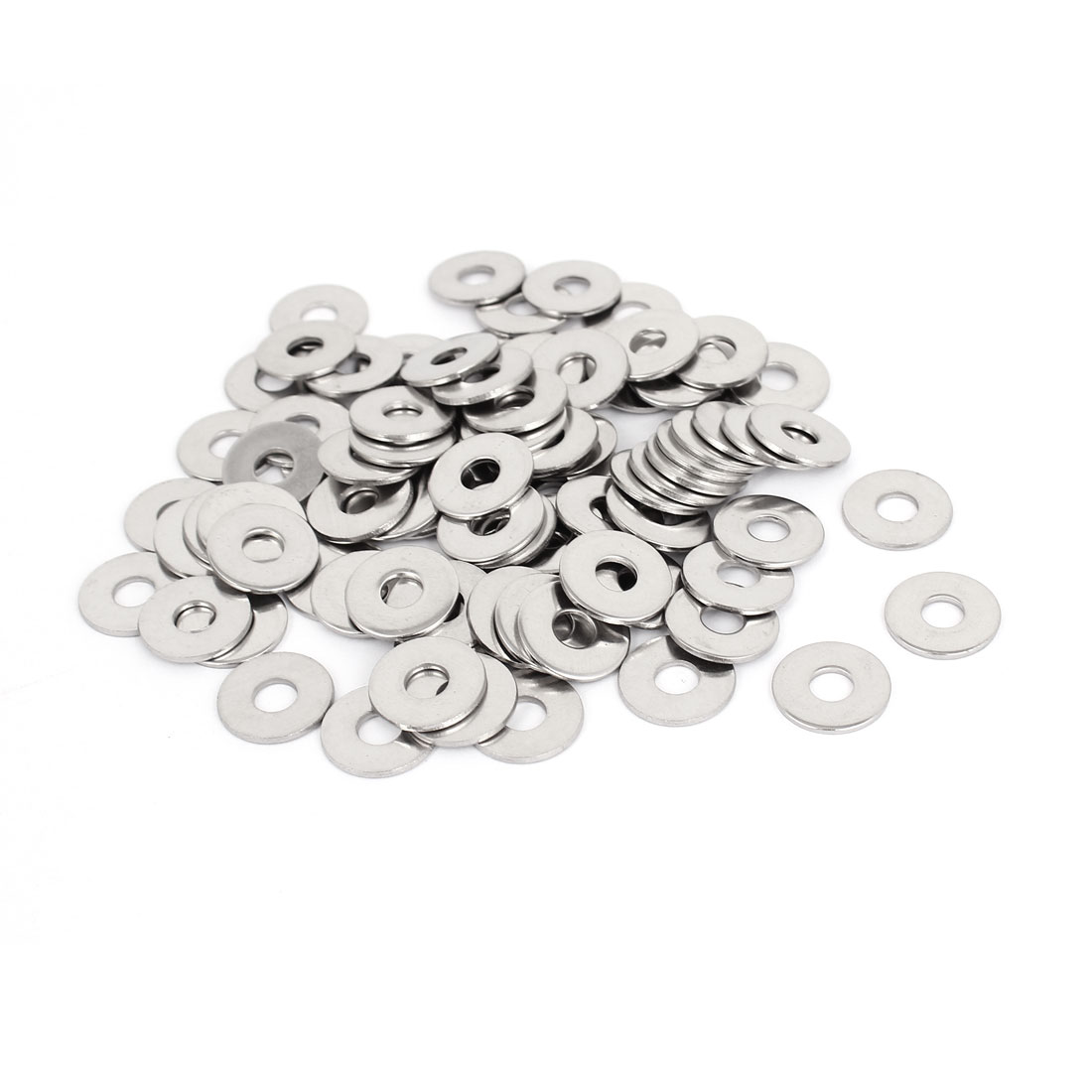 100Pcs M6x18mmx1.5mm Stainless Steel Metric Round Flat Washer for Bolt Screw