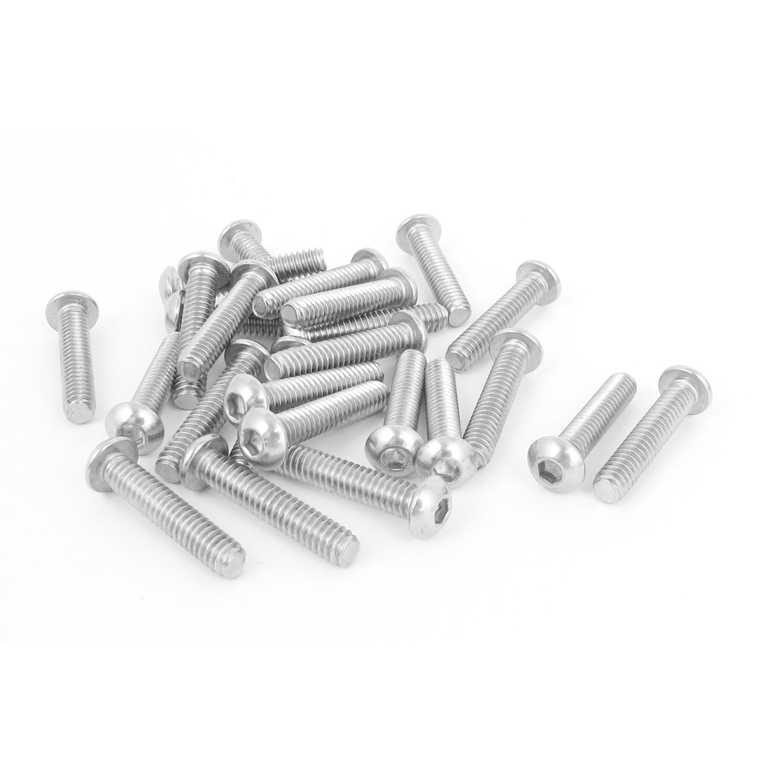 "25pcs 1/4""-20x1-1/4"" Stainless Steel Hex Socket Button Head Bolts Screws"
