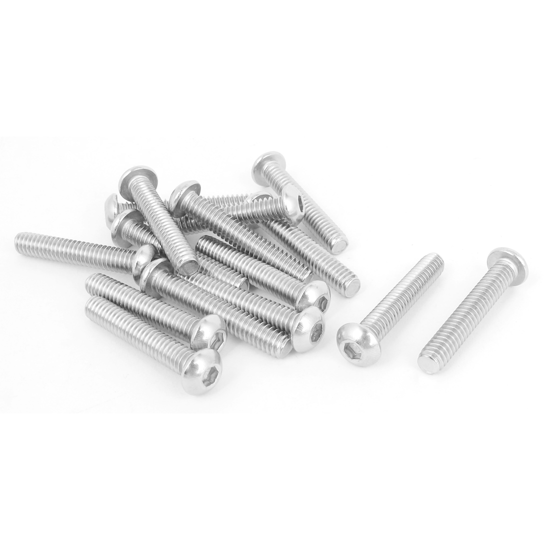"15pcs 1/4""-20x1-1/2"" Stainless Steel Hex Socket Button Head Bolts Screws"