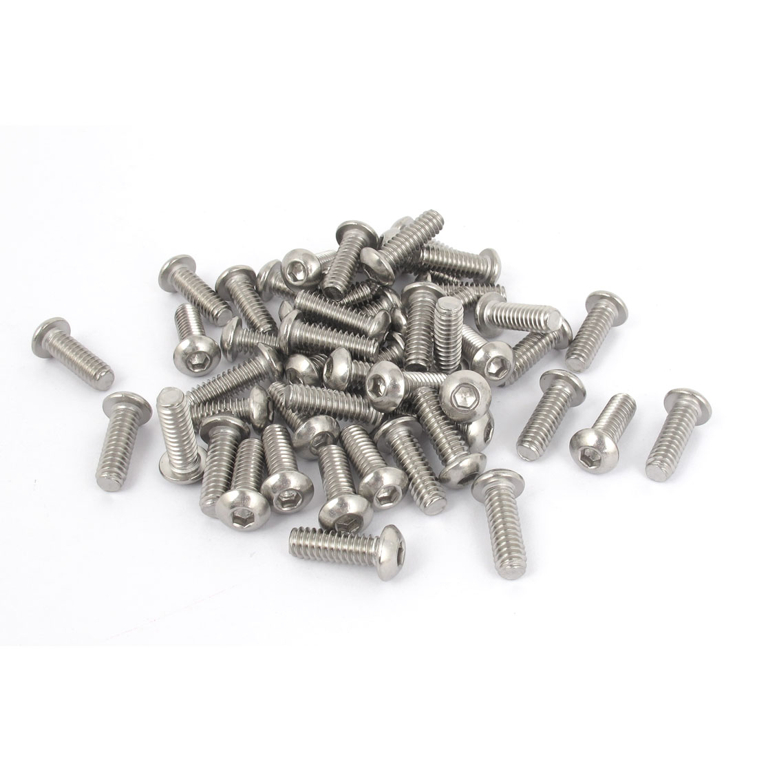 "50pcs 1/4""-20x3/4"" Stainless Steel Hex Socket Button Head Bolts Screws"