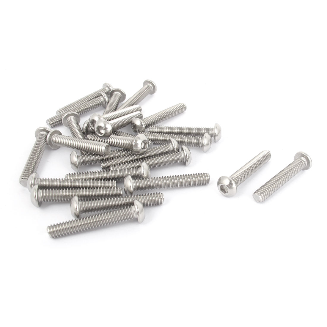 "25pcs 1/4""-20x1-1/2"" Stainless Steel Hex Socket Button Head Bolts Screws"