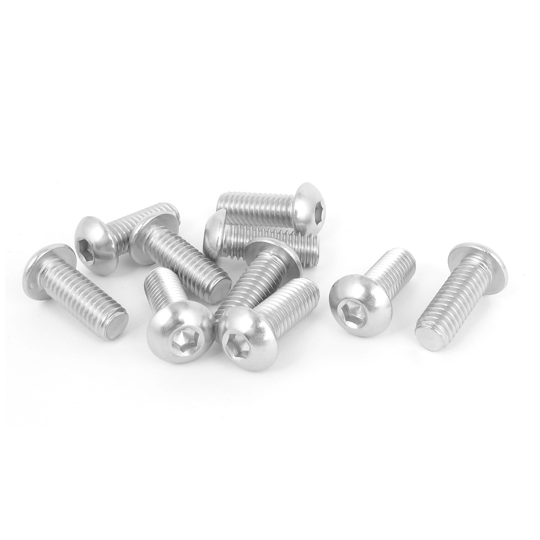"10pcs 3/8""-16x1"" Stainless Steel Hex Socket Button Head Bolts Screws"