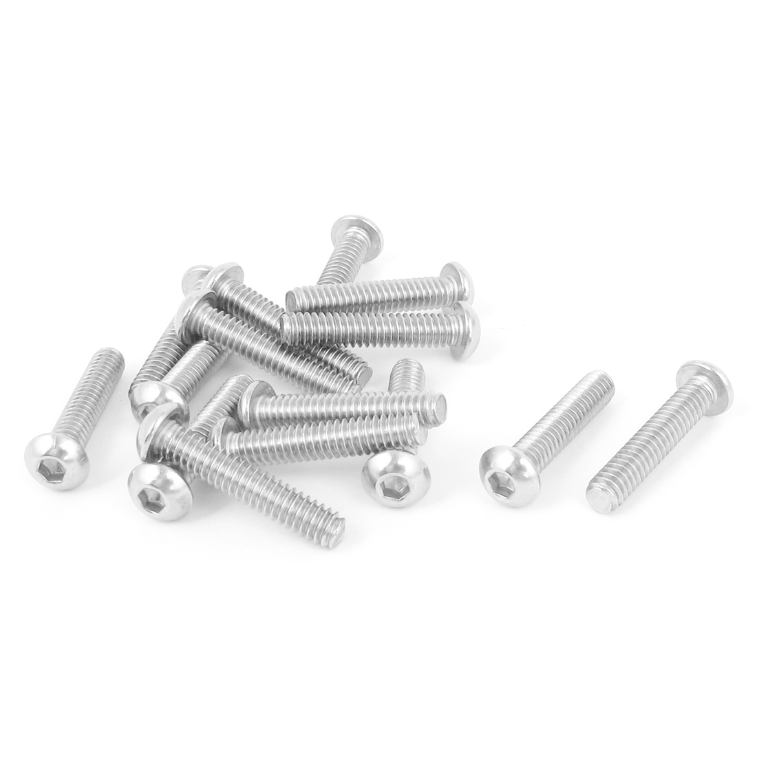 "15pcs 1/4""-20x1-1/4"" Stainless Steel Hex Socket Button Head Bolts Screws"