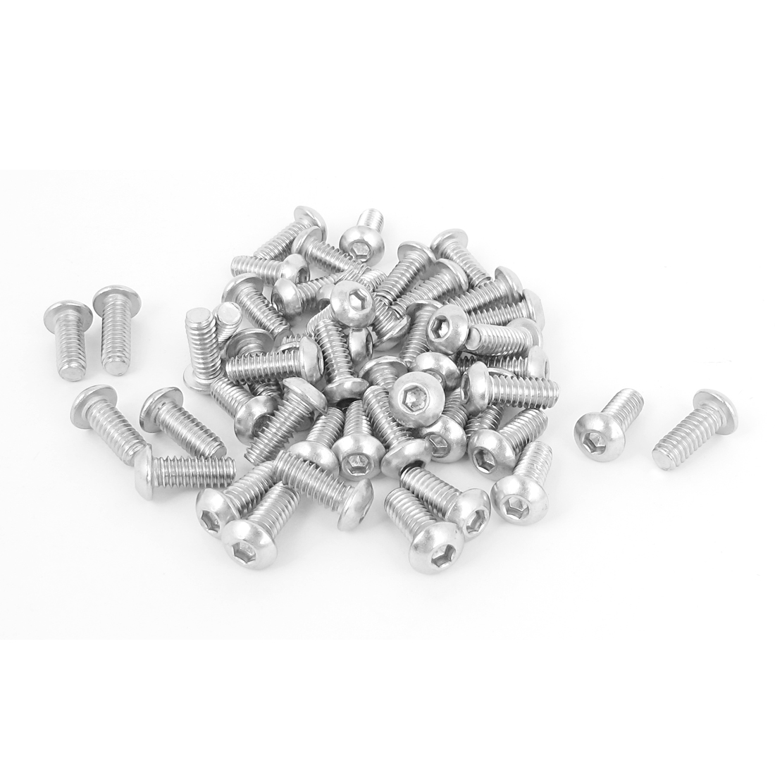 "50pcs 1/4""-20x5/8"" Stainless Steel Hex Socket Button Head Bolts Screws"