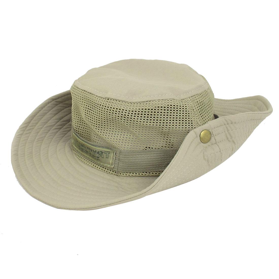 Outdoor Fishing Touring Mesh Detail Nylon Meshy Wide Brim Hat