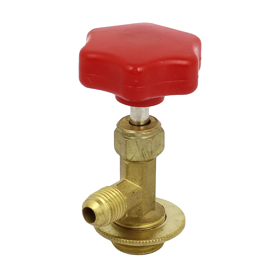 Red Silver Tone Metal Brass Can Tap Valve Bottle Opener for Refrigerant Gas