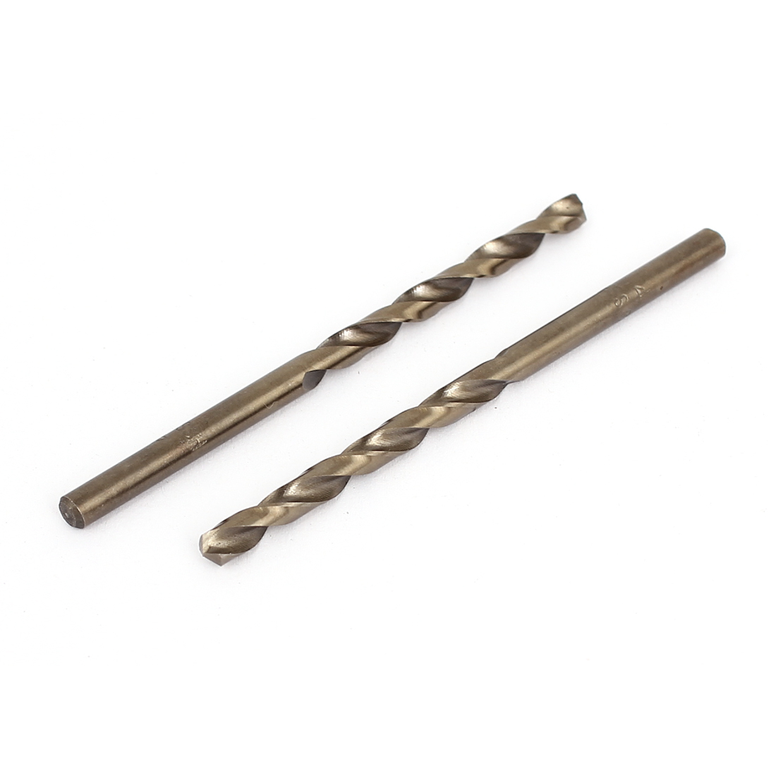 Stainless Steel Straight Round Shank 4.0mm Diameter Drilling Twist Drill Bit 2pcs