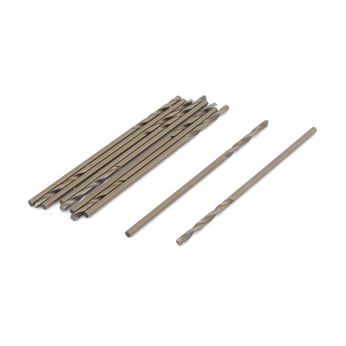 Round Shank 1.0mm Dia HSS-CO Drilling Twist Drill Bit 10pcs for Stainless Steel
