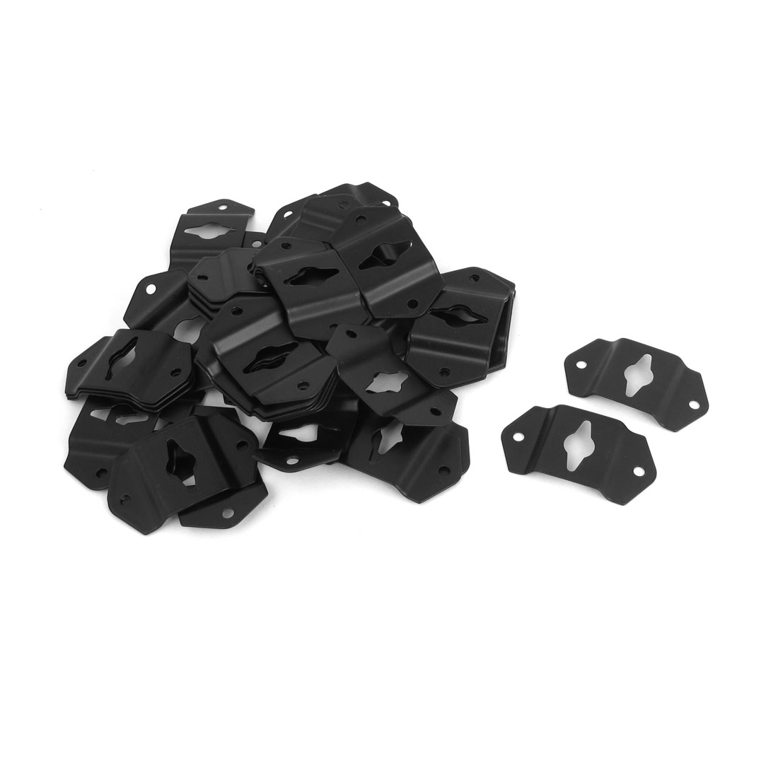 DIY Audio Sound Box Speaker Wall Mount Iron Hook Hanger Plate Black 50pcs