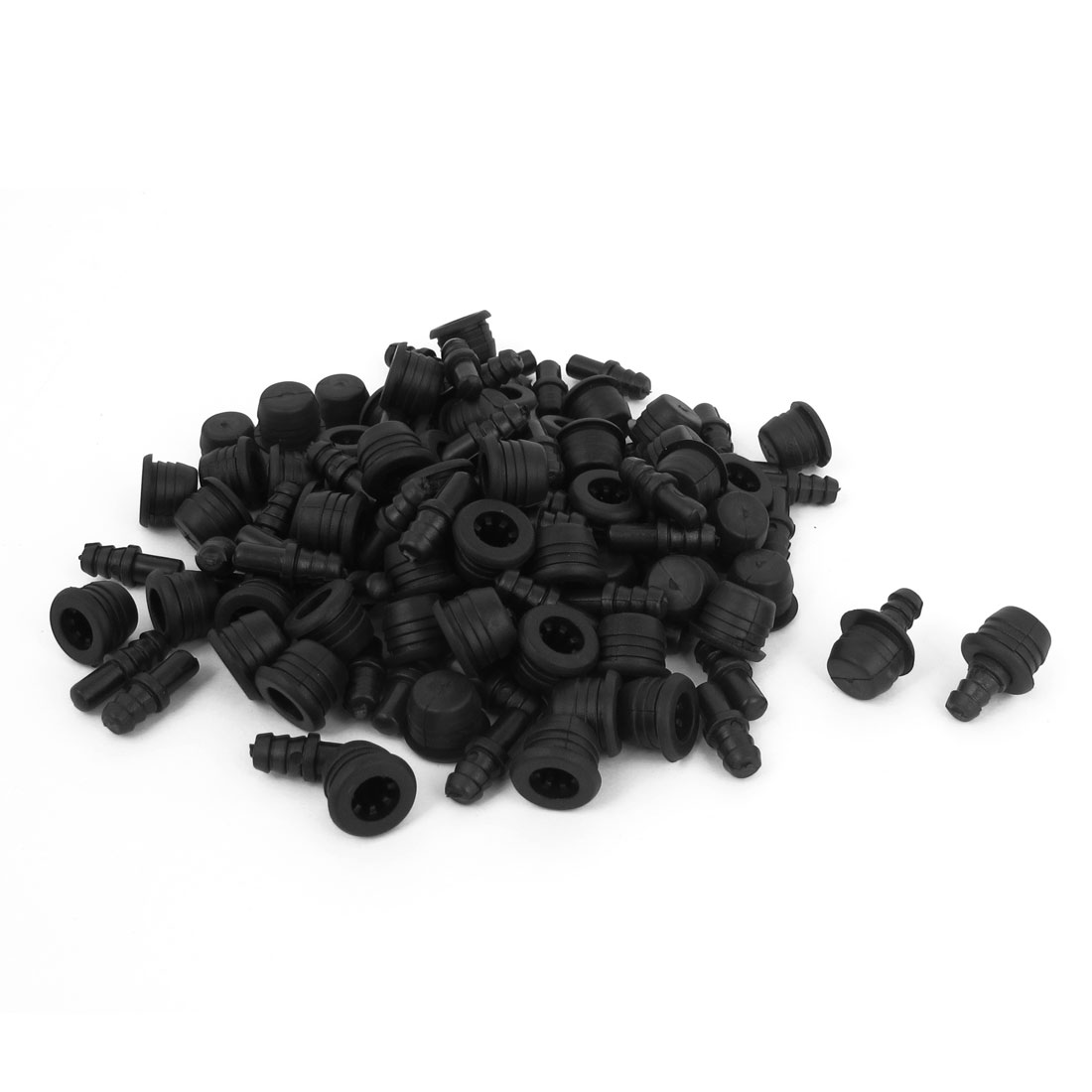 Black Plastic Socket Type Speaker Grill Fixing Pegs Studs Buckles 200pcs
