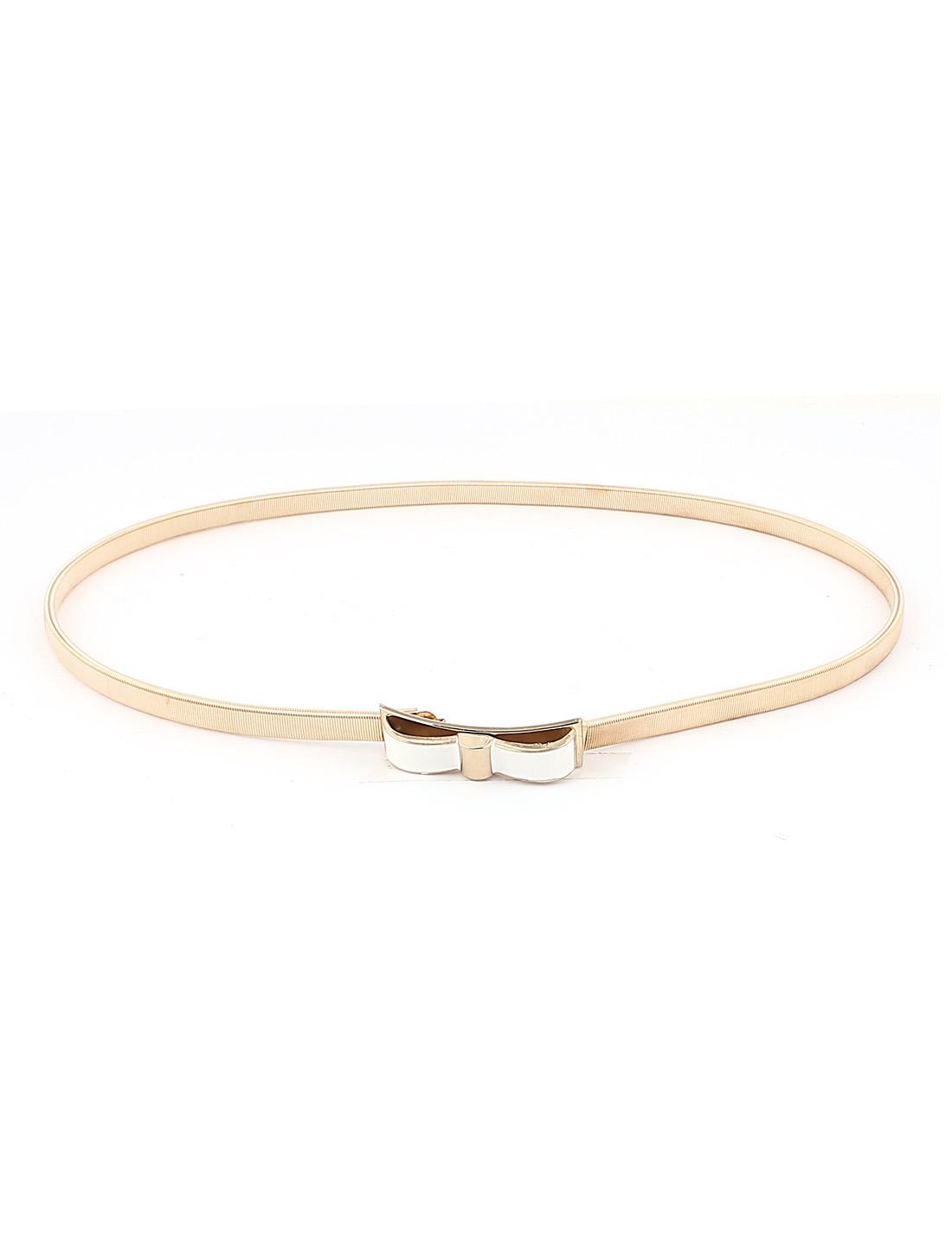 Gold Tone Bowknot Shape Interlocking Buckle Waist Chain for Lady
