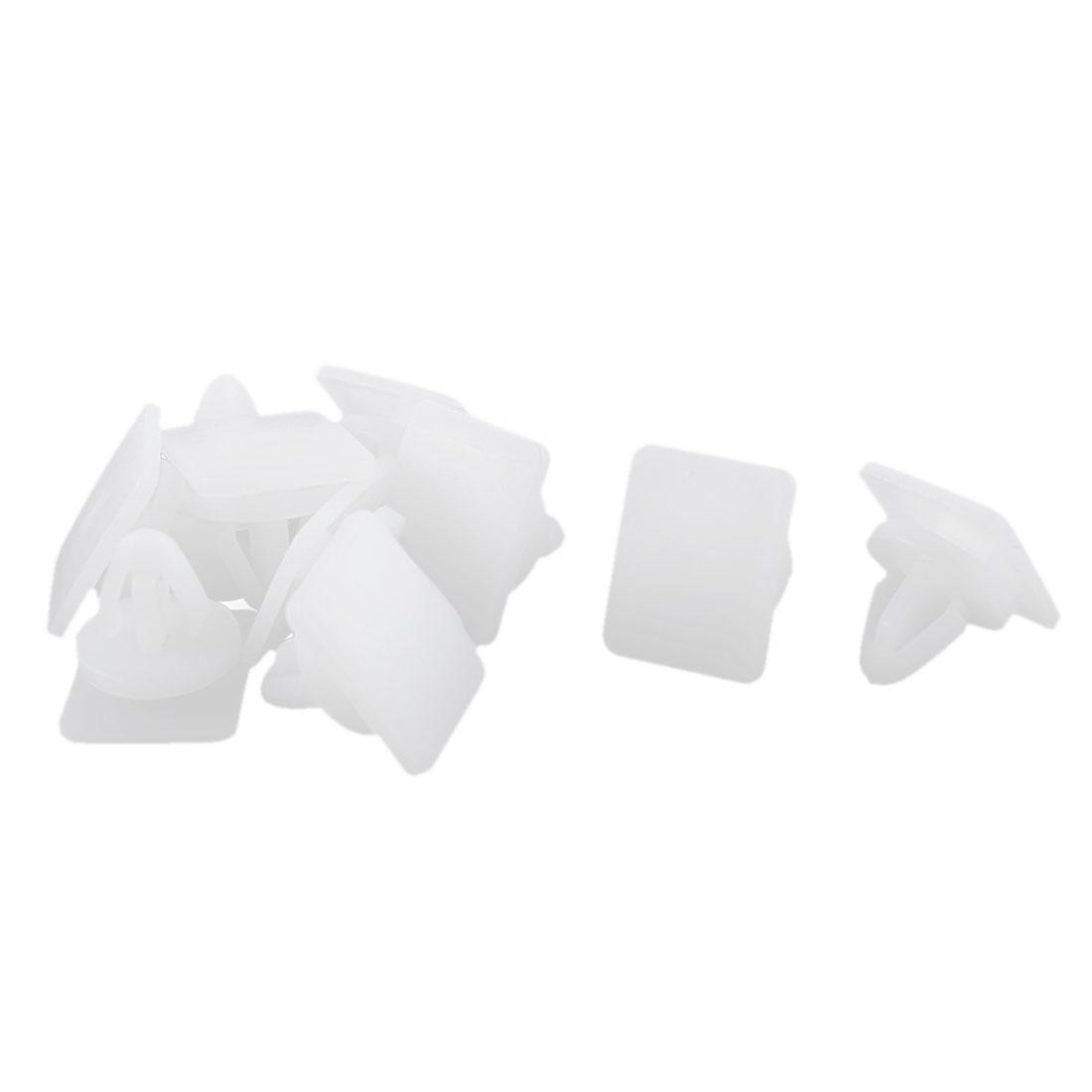 10 Pcs White Plastic Splash Guard Carpet Floor Fastener Rivet for Hyundai