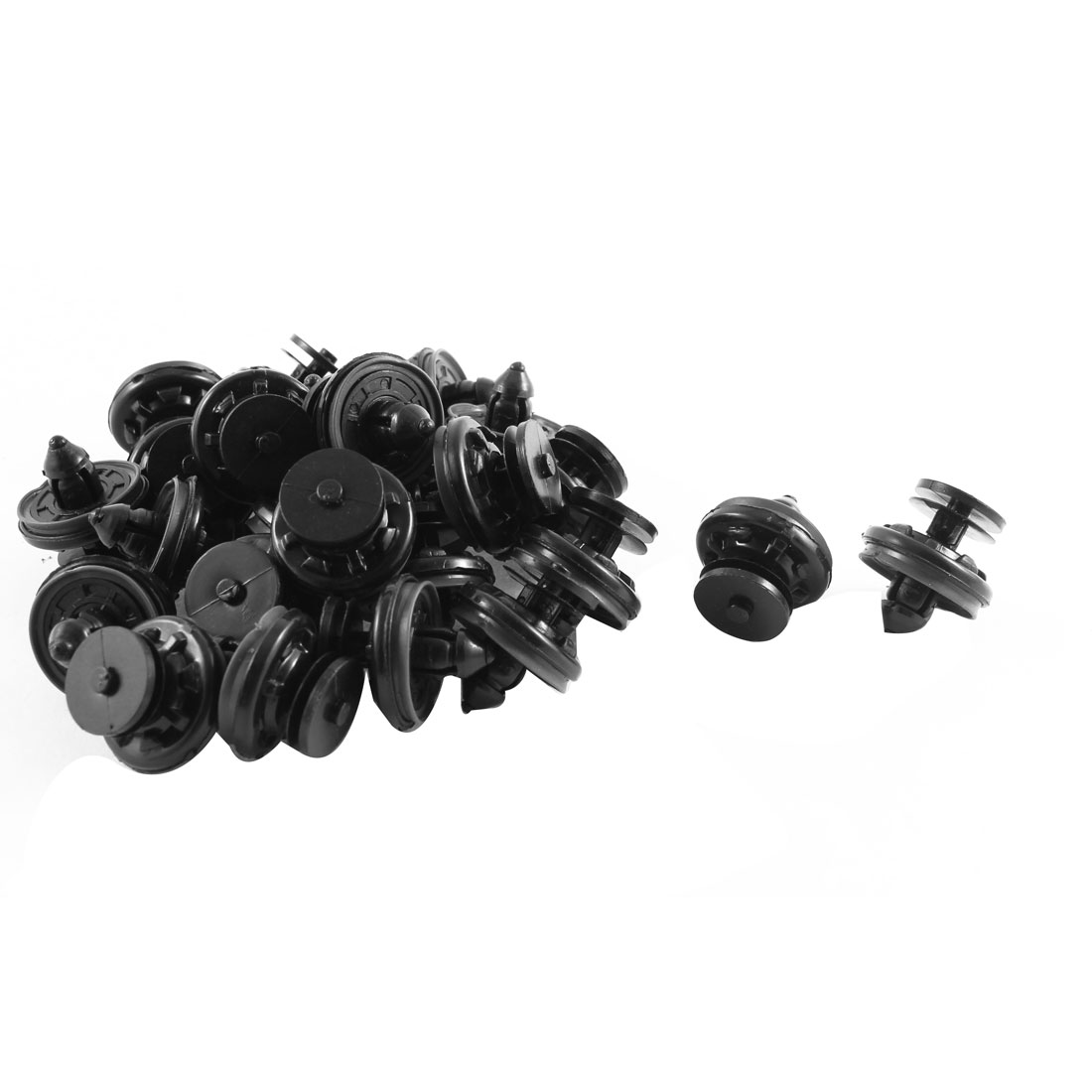 25 Pcs Black Plastic Splash Guard Defender Fastener Mat Clips for VW Polo