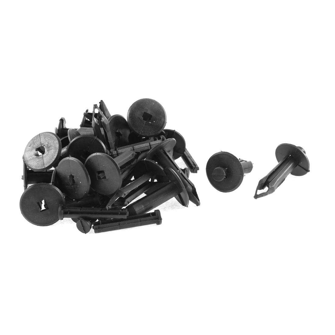 25 Pcs Black Plastic Splash Guard Defender Bumper Mat Rivet for Buick